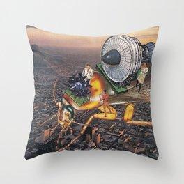 Cockroach Airways Throw Pillow