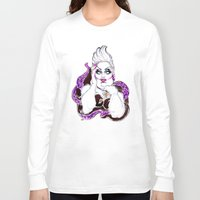 ursula Long Sleeve T-shirts featuring Borderline Ursula  by dannydax