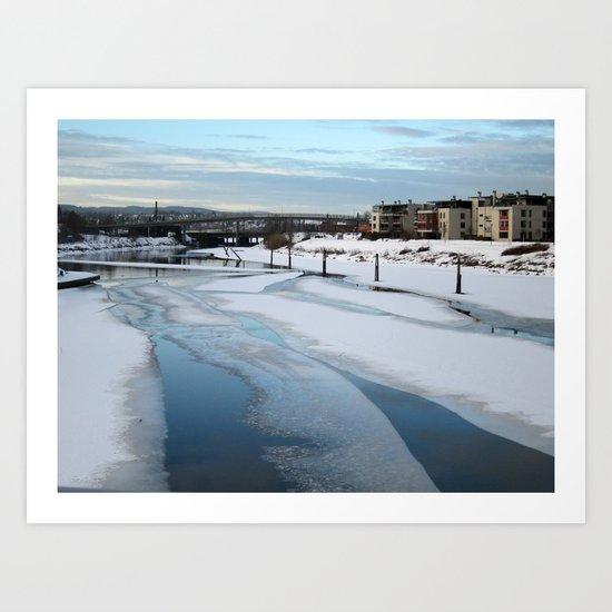 Beautiful Icy Blue Art Print