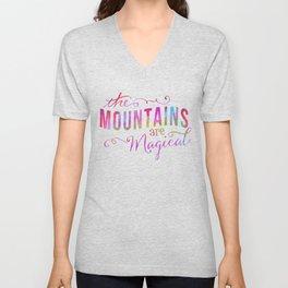 Magical Mountain Meadow Unisex V-Neck