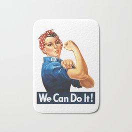 WE CAN DO IT Pop Art Bath Mat