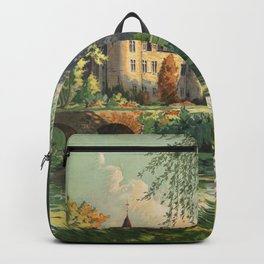 Vintage French Chateau Backpack