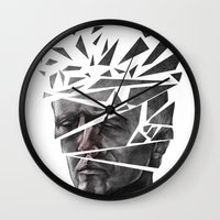 blade runner Wall Clocks featuring Blade Runner by Andy Pugh
