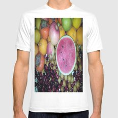 SIMPLY FRUITS Mens Fitted Tee White MEDIUM