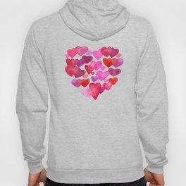 Watercolor hearts romantic design Hoody