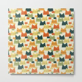 Nala Cat Pattern Metal Print