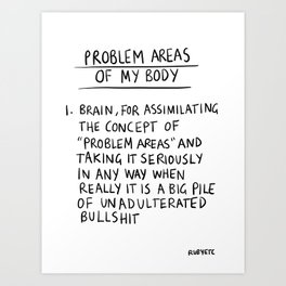Problem Areas Art Print