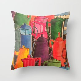 Cafetieres and coffee... Throw Pillow