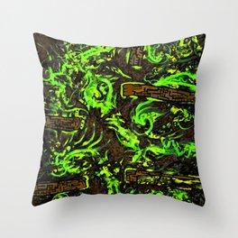 Psyesquivel 02 slurmwood Throw Pillow