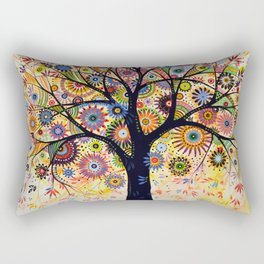 Abstract Art Landscape Original Painting .... Life Giver Rectangular Pillow