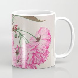 Barrier Mountain Cherry Blossoms Watercolor Coffee Mug