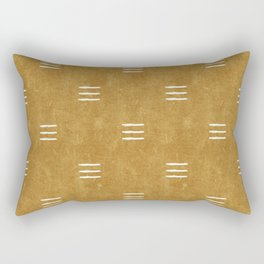triple dash - mustard Rectangular Pillow