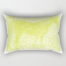 Abstract Silver by Robert S. Lee Rectangular Pillow