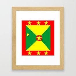 Tropical Vacation Grenada Flag Framed Art Print