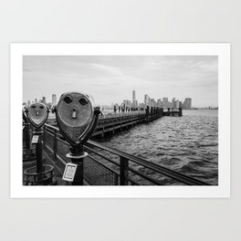 View from Liberty Island - New York Art Print