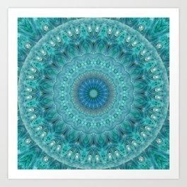 Mandala luminous Opal Art Print