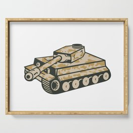 World War Two Panzer Tank Retro Serving Tray