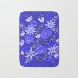 Blue Blossoms Bath Mat