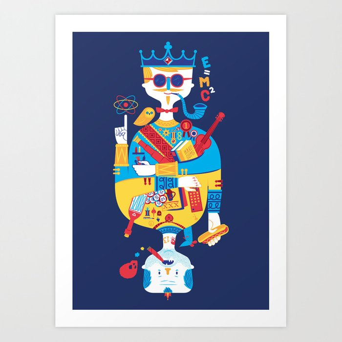 Jack of Smarts (Knave of Slobs) Art Print