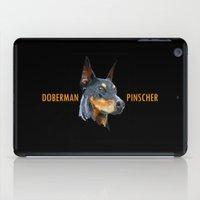 doberman iPad Cases featuring Doberman by Det Tidkun