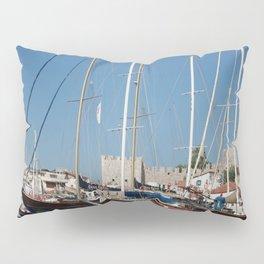 Traditional Turkish Gulets In Marmaris Harbour Pillow Sham