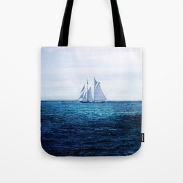 Sailing Ship on the Sea Tote Bag