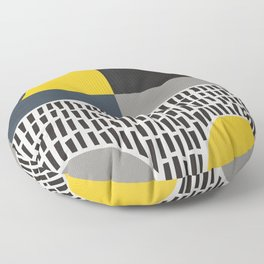 Umbrella Rain Abstract Floor Pillow