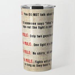 Fightclub Rules Travel Mug