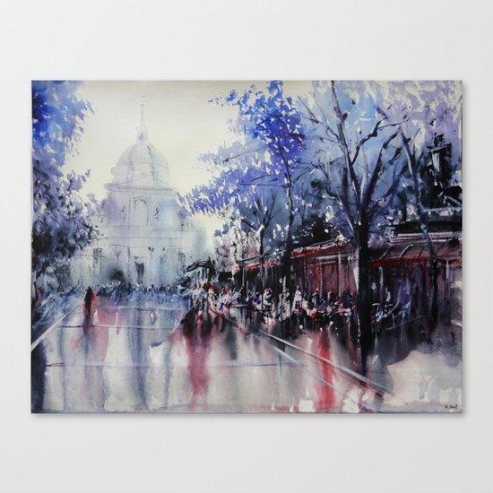 Paris Watercolor painting -  La Sorbonne Canvas Print