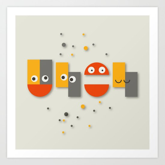 Cute is your uh oh Art Print