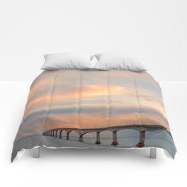 Sunset Sky Bridge Comforters