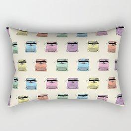 A head full of typewriters - pattern - vintage - '50s - 1950 - fifties- lettera 22 - Oiivetti facsim Rectangular Pillow