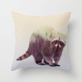 Little Ones: Raccoon Throw Pillow