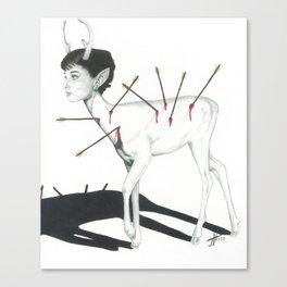 Audrey Hepburn Deer Canvas Print