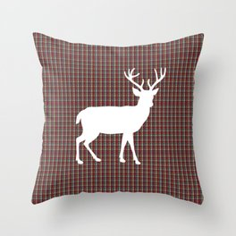 Plaid Deer Throw Pillow