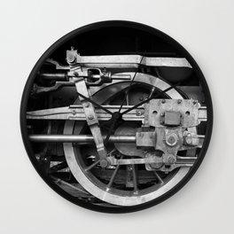 locomotive wheels Wall Clock