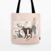stay gold Tote Bags featuring Stay Gold by Heather Landis