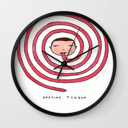Awesome tongue Wall Clock