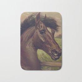 Vintage Horse Illustration (1893) Bath Mat