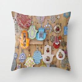 Hamsa lucky charms Throw Pillow