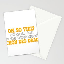 """On the level: """"oh, so much oh well ... but I have already deo on it?"""". Stationery Cards"""