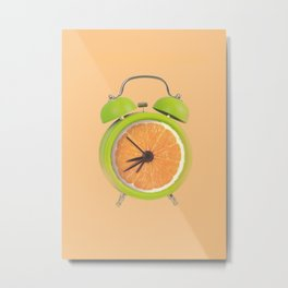 Fruity alarm clock Metal Print