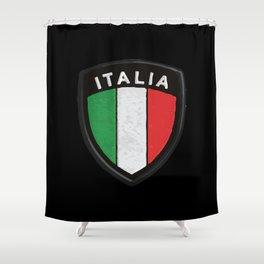 italia hemblem Shower Curtain