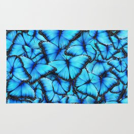 Peace of the Blue Butterfly Rug