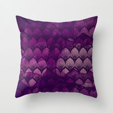 Variations on a Feather II - Purple Haze  Throw Pillow