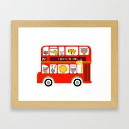 Animal Bus Framed Art Print