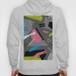 Grey Retro Geometric Pattern Hoody