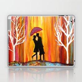 Romance in the Rain I romantic gift art Laptop & iPad Skin