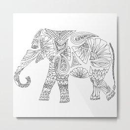 Unique Elephant Art Metal Print
