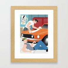 Muscle Car for Handsome Devil Press Framed Art Print